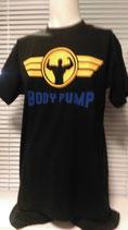 T-Shirt Bodypump schwarz/gelb/royal