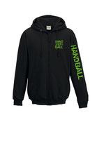 HBW Kapuzenjacke 100 % schwarz/neongrün