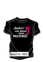Volley-Ballett schwarz/weiß/neonpink