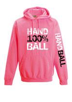 Handball Neonkapuze neonpink