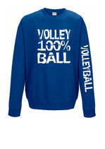 Volleyball Sweater 100 % royal/weiß