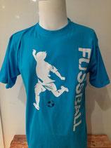 Fußball Play FB türkis/weiß/marine