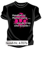Handball Männersache 2 schwarz/weiß/neonpink