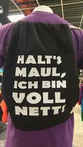 Beutel Voll Nett schwarz/weiß