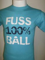 Fußball 100 % türkis/weiß/marine