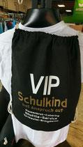 Turnbeutel VIP schwarz/weiß/gold