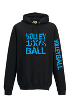 VBW Kapuze 100 % schwarz/neonblau