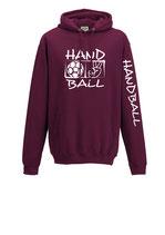Handball Kapuze Victory burgund/weiß