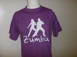 Zumba-Shirt Druck weiß