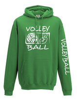 Volleyball Kapuze Victory  lime/weiß