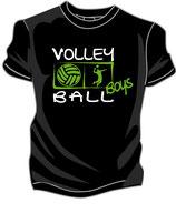 Volleyball Boys schwarz/weiß/neongrün