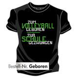Volleyball Schule schwarz/weiß/neongrün