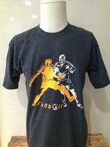 FußballTeamplayer grau/neonorange/weiß