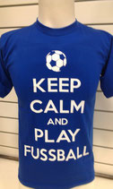 Fussball Keep calm and royal/weiß