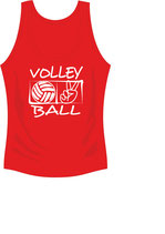 Volleyball  Victory Cool Top Damen Aufdruck weiß