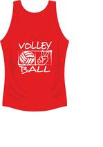 Volleyball Cool Top Damen Aufdruck weiß