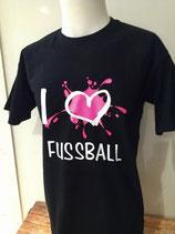 Fußball I love Splash schwarz/neonpink