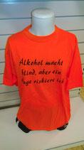 Alkohol macht blind orange/schwarz