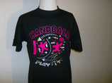 Handball Teamwork schwarz/neonpink/silber