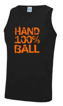 Handball Cool Top Unisex schwarz 100 % neonorange