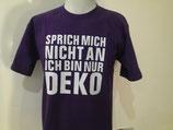 "T-Shirt ""Deko"" lila/weiß"