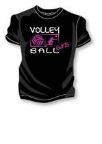 Volleyball Girls schwarz/weiß/neonpink