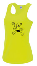 Handball Damen Cool Top neongelb Play it schwarz