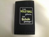 Geldbörse Schule schwarz Volleyball