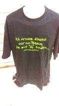 Ich trinke Alkohol schwarz/neongelbT-Shirt in schwarz