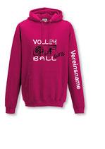 Kapuze Volleyball Girls pink/weiß/schwarz