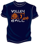 Volleyball Boys marine/weiß/neonorange