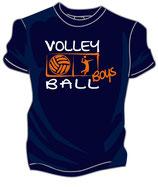 Volleyball Boys marine/weiß/neonorange