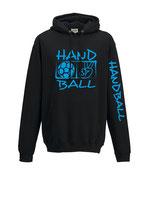 Handball Kapuze Victory  schwarz/neonblau