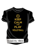 VBW Keep calm schwarz/gold