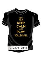 VBW Keep calm schwarz/gold