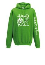 Handball Kapuze Victory lime/weiß