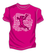 T-Shirt HB Words Woman + pink/weiß/schwarz