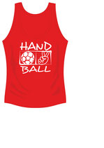 Handball Cool Top Damen Aufdruck weiß