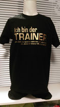 Trainer T-Shirt schwarz/gold