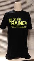 Trainer T-Shirt schwarz/neongelb