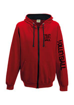 VBW K-Kapuzenjacke 100 % rot/schwarz