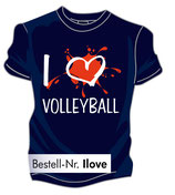 Volleyball I love marine/weiß/rot