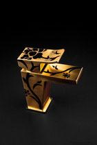 Monomando lavabo modelo Surf Art oro satinado