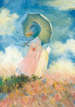 """Postkarte """"Ente mit Sonnenschirm"""""""