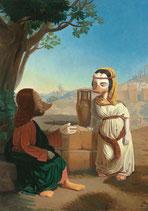 """Postkarte """"Begegnung am Jakobsbrunnen"""""""