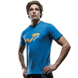 JOMA T-SHIRT CAMPUS 65POLY-35COTTON BLAU 2101.33.1034