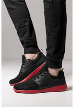 URBAN CLASSICS SCHUHE BLACK/RED