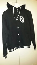 RJ HOODYJACKET BLACK/WHITE