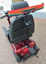 Leichtgewicht-Falt-Rollatorhalter mit schräger Aufnahme (einstellbar)