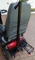 Gepäckträger mit Federklappe, Z-Reflektor,  Aufnahme für Stockhalter und Stockhalter;